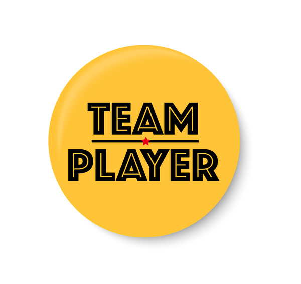 Team Player Pin Badge