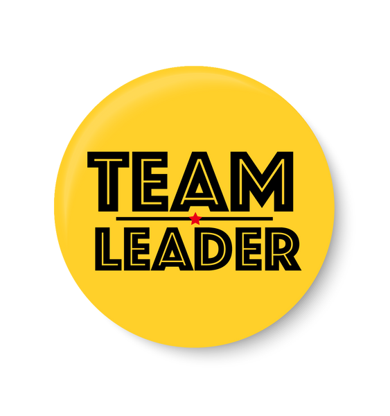 Team Leader Pin Badge,Team Leader ,Complement Pin Badge