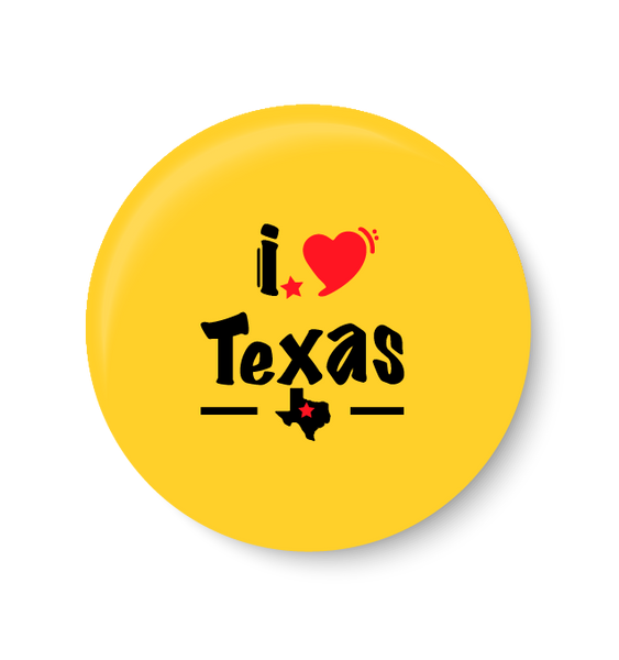 I love Texas I Love with UNITED STATES series I Fridge Magnet