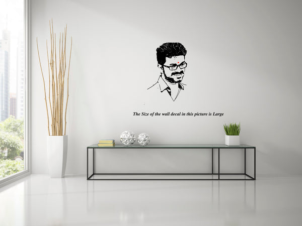 Thanga Thalapathy Vijay ,Thanga Thalapathy Vijay  Sticker,Thanga Thalapathy Vijay  Wall Sticker,Thanga Thalapathy Vijay  Wall Decal,Thanga Thalapathy Vijay  Decal