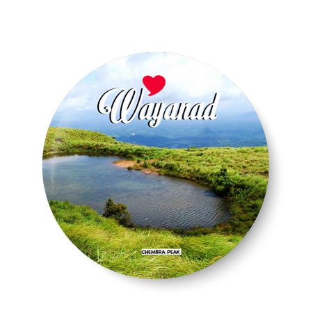 Love Wayanad I Chembra Peak I Fridge Magnet