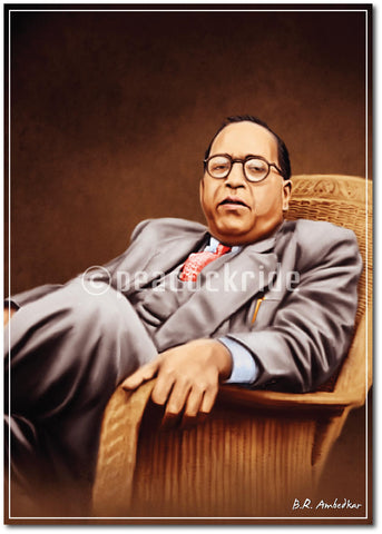 Dr. Baba Saheb Ambedkar - The Light of Million Hopes Wall Poster / Frame