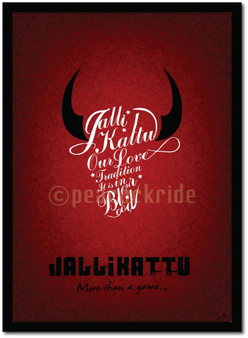 Jallikattu - It's In our Blood Poster/Frame