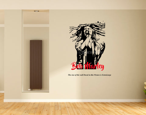 Bob Marley Wall Decal,Bob Marley , Sticker, Wall Decal