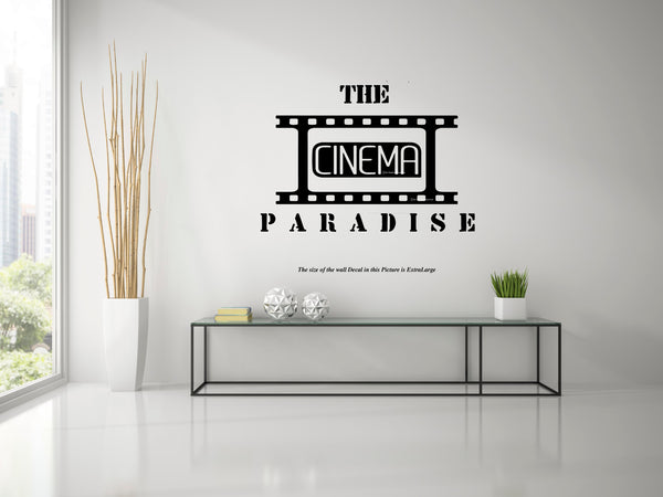 cinema, wall decal, wall sticker