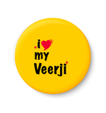 I Love My Veerji Fridge Magnet