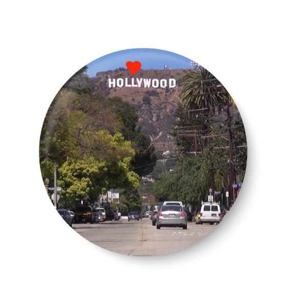 Love Hollywood , United States Series Pin Badge ,Hollywood