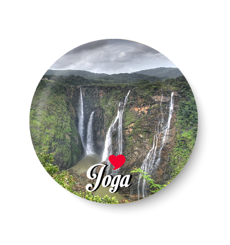 Love Joga Fridge Magnet