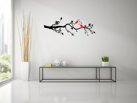 Love Birds , Natural Wall Decal, love birds, wall decal