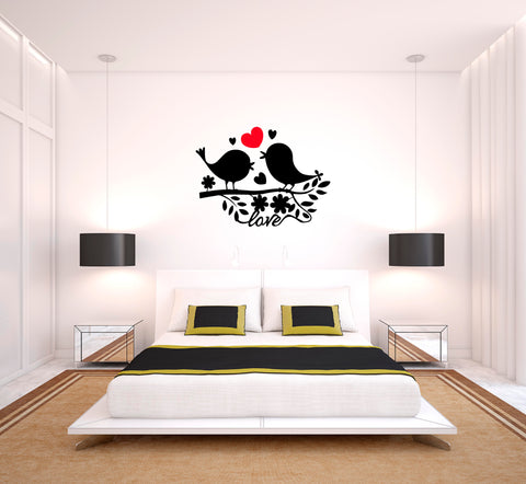 Love Birds I Natural Wall Decal