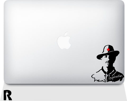Inspirational Bhagat Singh Laptop Sticker