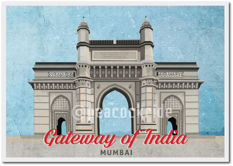 Gateway of Mumbai Detailed Art Wall Poster/Frame