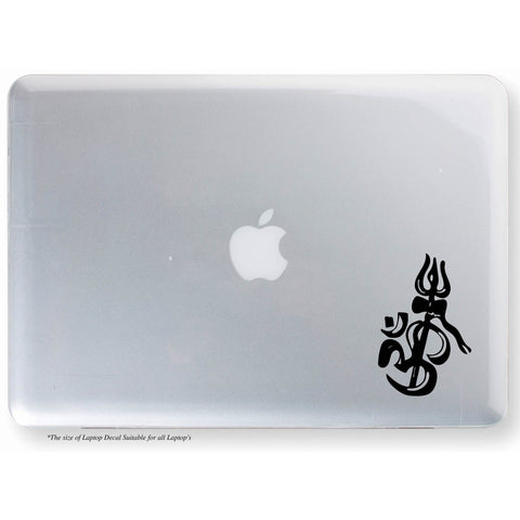Ohm with Trishul Sticker,Ohm Sticker,Ohm Decal,Ohm Laptop Sticker,Ohm with Trishul Laptop Sticker