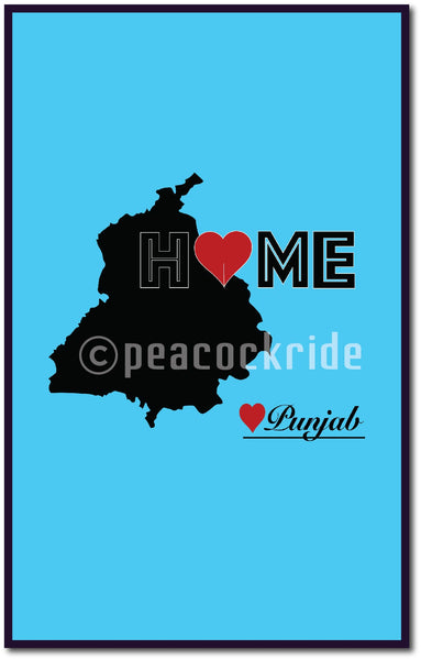 """Punjab Home Love"" Wall Poster/Frame"