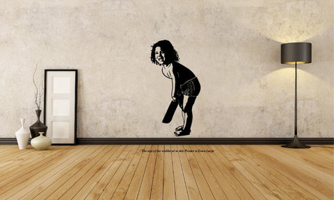 Sachin Tendulkar as Little Master Wall Decal