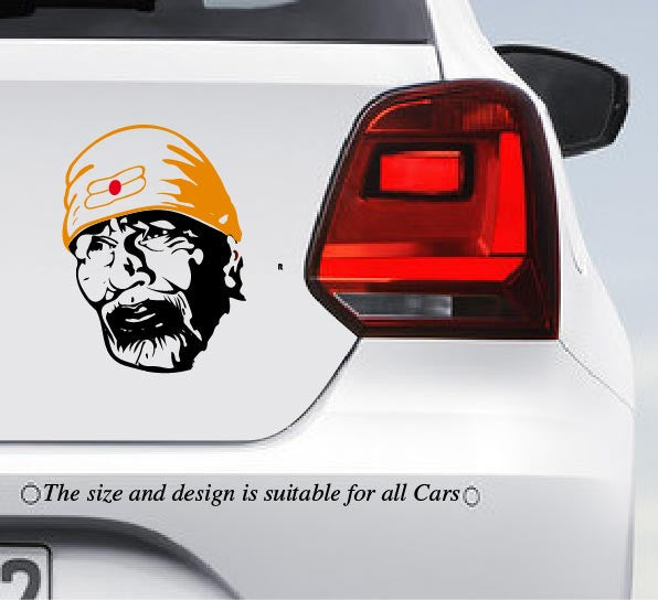 Sai baba car bumper decal peacockride