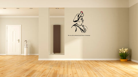 Tipu Sultan Wall Decal, Tipu Sultan Wall Sticker, Tipu Sultan