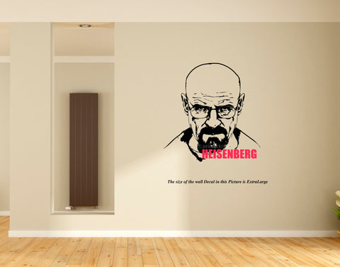 Werner Heisenberg Wall Decal,Wall sticker,Heisenberg ,Wall Decal