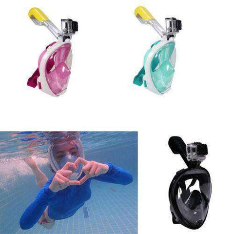 OceanView™ HD Wide-Angle 180° Full Face Snorkel Mask - GoPro Compatible!:Hobbies Unleashed