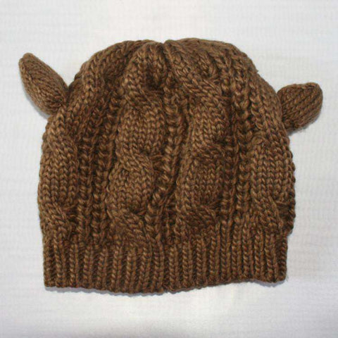 Hand-Knitted Cat Ear Beanie:Hobbies Unleashed