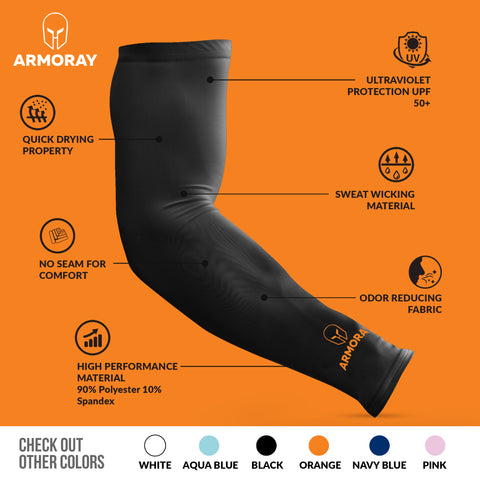 ARMORAY Black 4 Pair Arm Sleeves