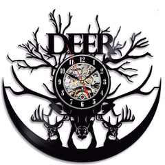 BLACKDeer™ Unique Vinyl Wall Clock - Hunters, Deer Lovers, and Outdoorsmen!:Hobbies Unleashed