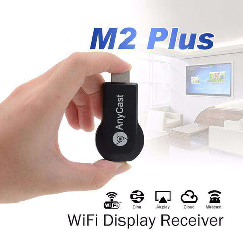 AnyCast M2+ 1080P Wireless Video Receiver - Works with Projectors, TVs, In-Car Media Devices, Laptops, and PC's!:Hobbies Unleashed