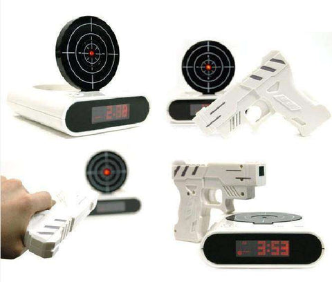 ShootUp™ The Gun Alarm Clock - Blast Your Way Out of Bed!:Hobbies Unleashed