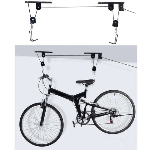 RideRack™ Overhead Pulley Rack System for Bikes:Hobbies Unleashed