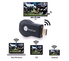AnyCast M2+ 1080P Wireless Video Receiver - Works with Projectors, TVs, In-Car Media Devices, Laptops, and PC's!