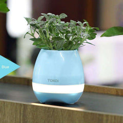 FloralBeats™ Bluetooth Enabled Flower Pot Lamp Speakers