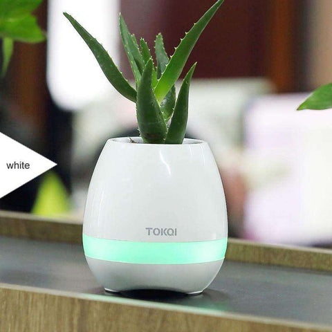 FloralBeats™ Bluetooth Enabled Flower Pot Lamp Speakers:Hobbies Unleashed