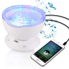 NightLux™ Relaxing Ocean Projection Night Lamp with Speakers:Hobbies Unleashed