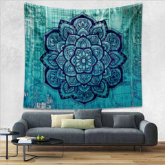 Indian Bohemian Picnic Throw Blanket and Tapestry