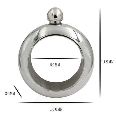 FashionFlask™  A Stylish Bracelet Bangle with a Hidden Flask Compartment:Hobbies Unleashed