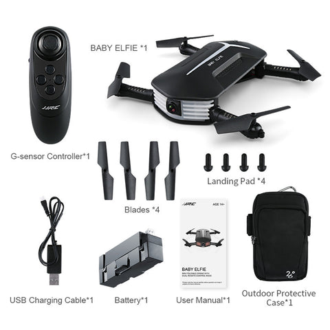 JJRC SelfieDrone HD 2.0 - Ultra-Portable 720p Video and HD Photo Drone:Hobbies Unleashed
