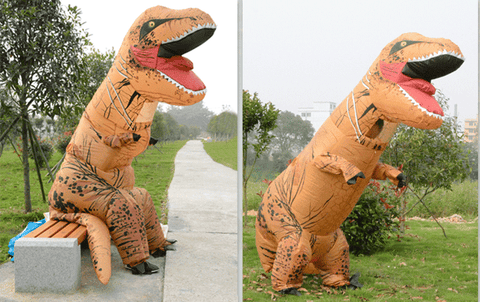 BubbleRex™ Inflatable T-Rex Costume:Hobbies Unleashed