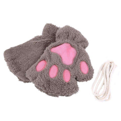 Plush Cat Paw Gloves