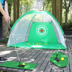 The GoPlus™ Golf Practice Net Set - Includes a 1' X 2' Range Mat:Hobbies Unleashed