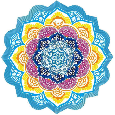 Indian Lotus Mandala - Bohemian Beach Blanket, Decoration, or Yoga Mat!:Hobbies Unleashed