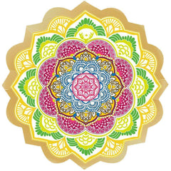 Indian Lotus Mandala - Bohemian Beach Blanket, Decoration, or Yoga Mat!