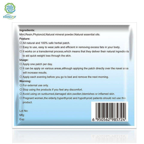 Herbal Slimming Patch - 100 Pieces Weight Loss Burning Fat Health Patch:Hobbies Unleashed