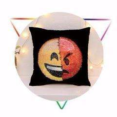 SmileyChange™ Transforming Emoji Sequin Pillows Case:Hobbies Unleashed