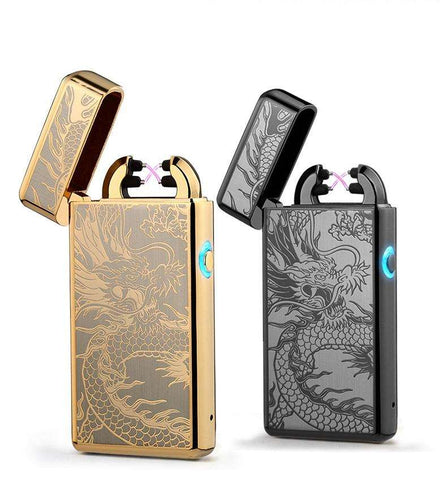 PlazmaCoil™ Deluxe Edition Stylish Double-Arc USB Lighter:Hobbies Unleashed