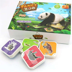 Fancy Zoo Magic 4D Educational Cards (68 pcs):Hobbies Unleashed