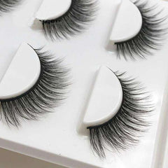 GlamLashes™ Realistic Mink False Eyelashes (3 pairs)