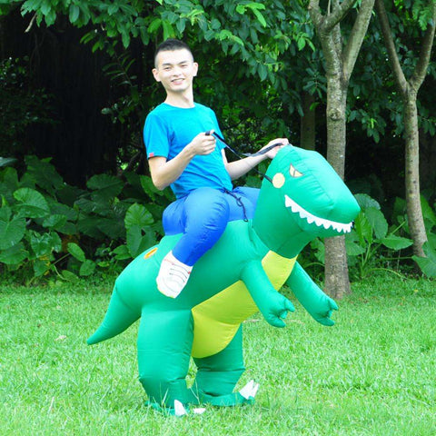 JurassicRider™ Inflatable Dino Rider Costume for Kids and Adults:Hobbies Unleashed