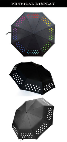 RainBrella™- Color Changing Umbrella When It Encounters Water