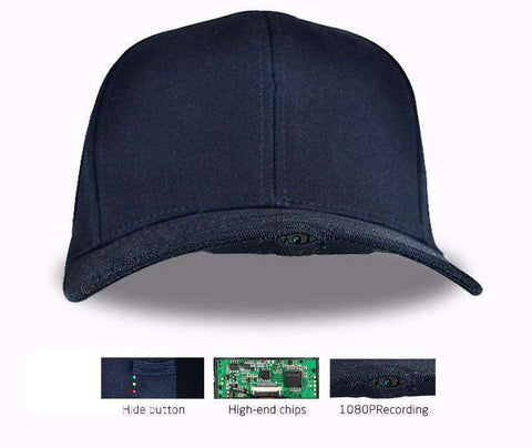 CaptureCap™ Video Recording Hat w/ 8GB Memory Card  - Take Videos On The Go:Hobbies Unleashed