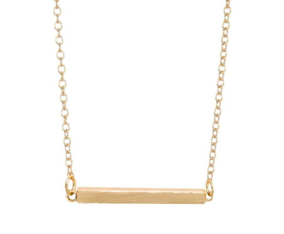 3D Horizontal Bar Necklace - Made to Layer